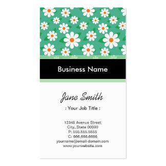 Programmer Elegant Green Daisy Floral Pattern Pack Of Standard Business Cards