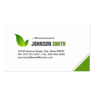Programmer - Elegant Modern Green Pack Of Standard Business Cards