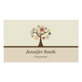 Programmer - Elegant Natural Theme Pack Of Standard Business Cards