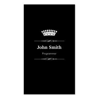 Programmer Elegant Royal Black White Pack Of Standard Business Cards