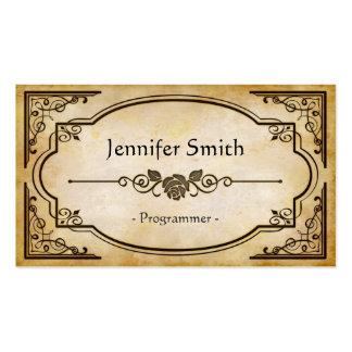 Programmer - Elegant Vintage Antique Pack Of Standard Business Cards