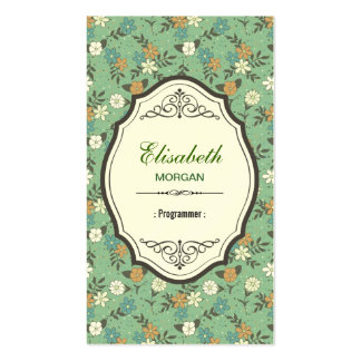 Programmer - Elegant Vintage Floral Double-Sided Standard Business Cards (Pack Of 100)