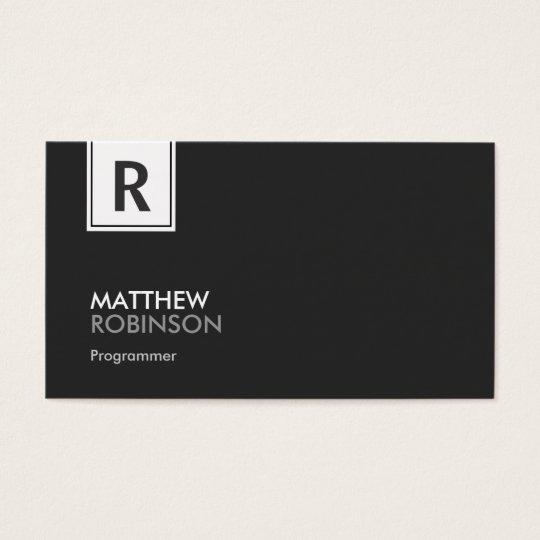 Programmer - Modern Classy Monogram Business Card