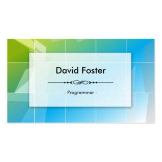 Programmer - Modern Elegant Simple Pack Of Standard Business Cards
