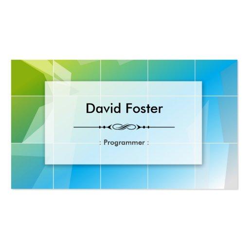 Programmer - Modern Elegant Simple Business Cards