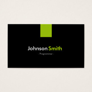 Programmer Modern Mint Green Business Card