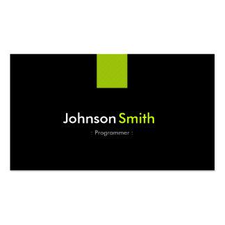 Programmer Modern Mint Green Pack Of Standard Business Cards
