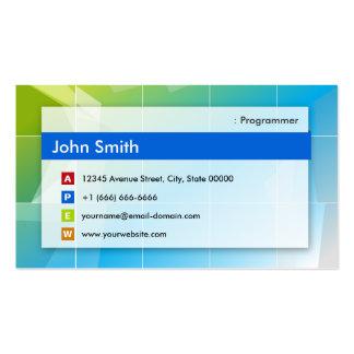 Programmer - Modern Multipurpose Pack Of Standard Business Cards