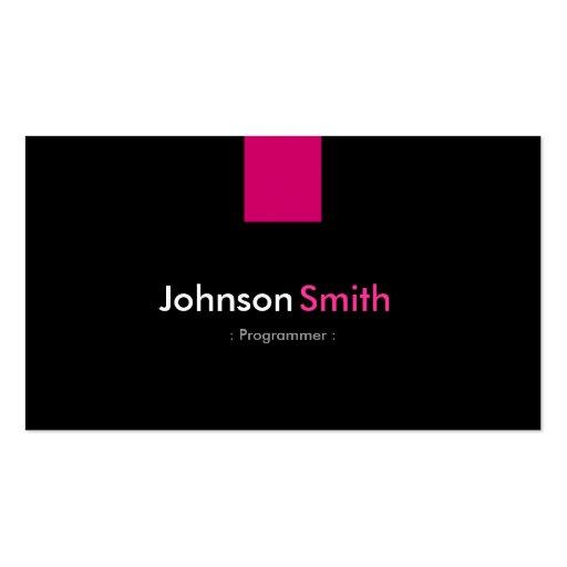 Programmer Modern Rose Pink Business Cards
