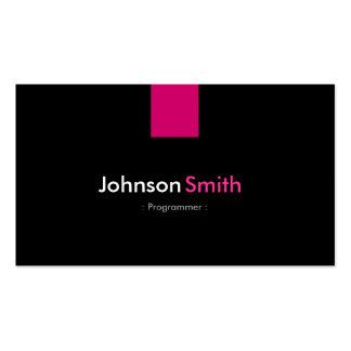 Programmer Modern Rose Pink Pack Of Standard Business Cards