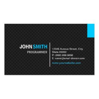 Programmer - Modern Twill Grid Pack Of Standard Business Cards