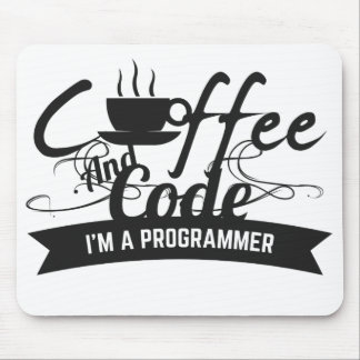 programmer mousepad - coffee and code