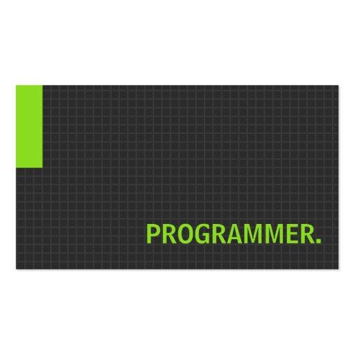 Programmer- Multiple Purpose Green Business Card