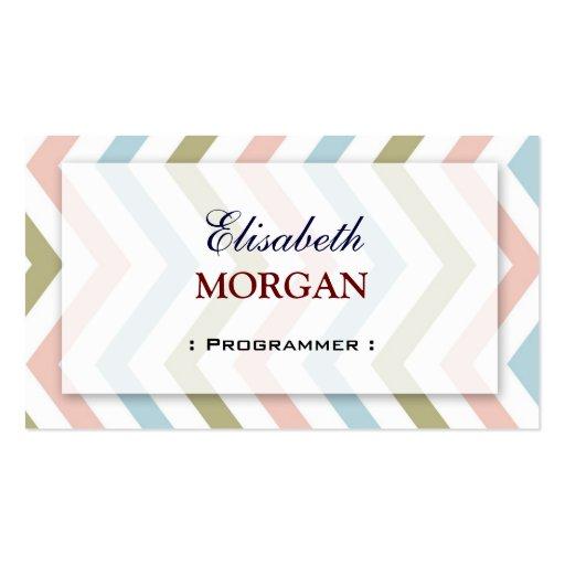 Programmer - Natural Graceful Chevron Business Card Template