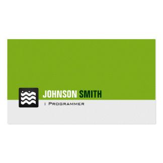 Programmer - Organic Green White Pack Of Standard Business Cards