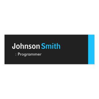 Programmer - Personal Aqua Blue Mini Business Card Templates