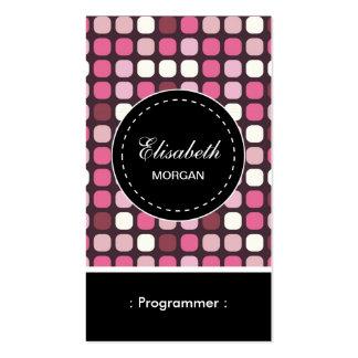 Programmer- Pink Polka Pattern Business Card