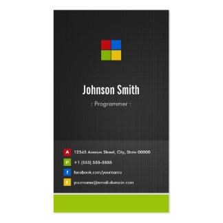 Programmer - Premium Creative Colorful Pack Of Standard Business Cards