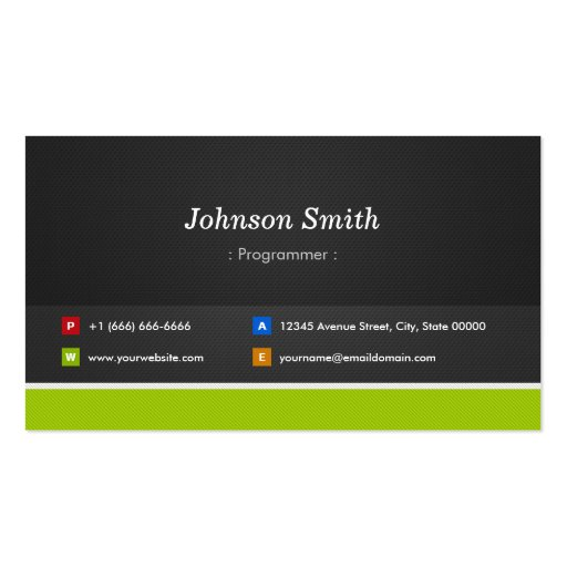 Programmer - Professional and Premium Business Card Template