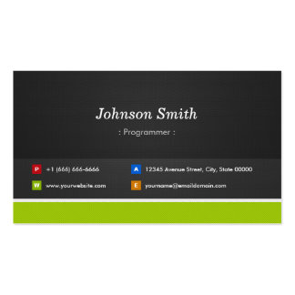 Programmer - Professional and Premium Pack Of Standard Business Cards
