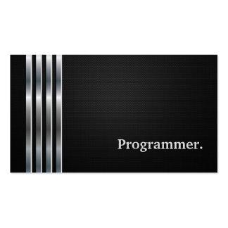 Programmer - Professional Black Silver Pack Of Standard Business Cards