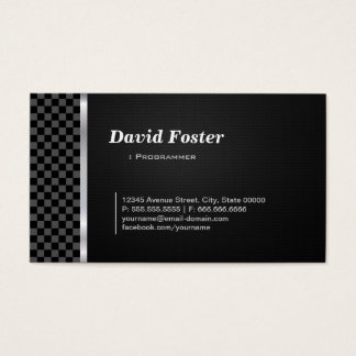 Programmer Professional Black White Business Card