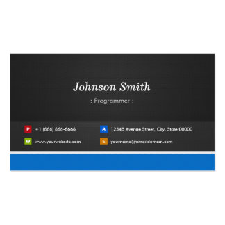Programmer - Professional Customizable Pack Of Standard Business Cards
