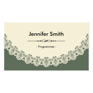 Programmer - Retro Chic Lace Pack Of Standard Business Cards