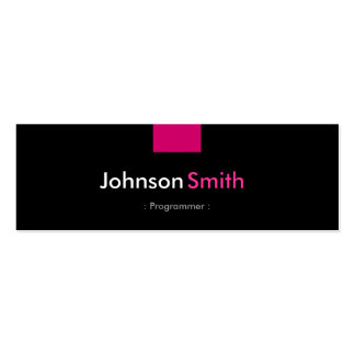 Programmer - Rose Pink Compact Business Card Templates