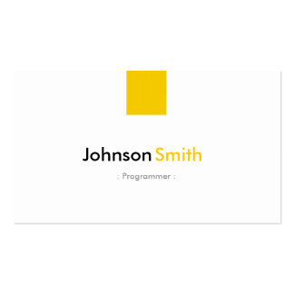 Programmer - Simple Amber Yellow Pack Of Standard Business Cards