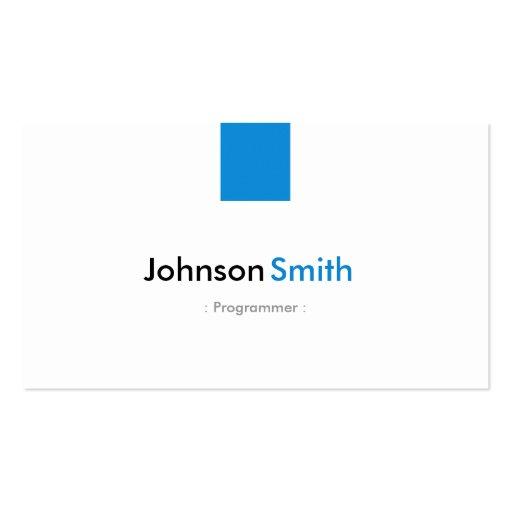 Programmer - Simple Aqua Blue Business Card Template