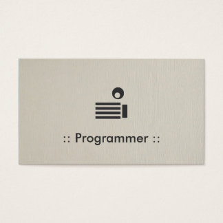 Programmer Simple Elegant Professional Business Card