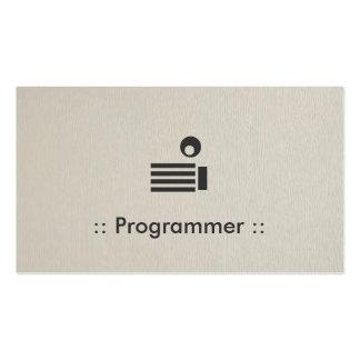 Programmer Simple Elegant Professional Pack Of Standard Business Cards