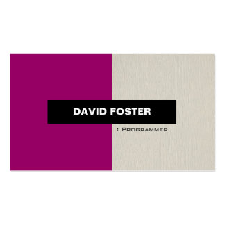 Programmer - Simple Elegant Stylish Double-Sided Standard Business Cards (Pack Of 100)
