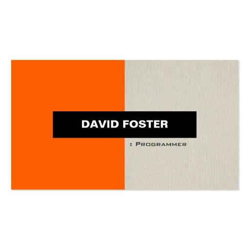Programmer - Simple Elegant Stylish Business Card Templates