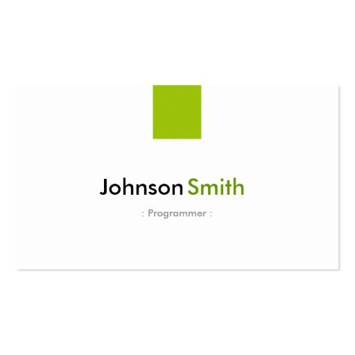 Programmer - Simple Mint Green Business Card