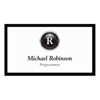 Programmer - Simple Stylish Monogram Pack Of Standard Business Cards