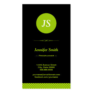 Programmer - Stylish Apple Green Double-Sided Standard Business Cards (Pack Of 100)