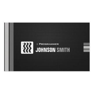 Programmer - Urban Black White Pack Of Standard Business Cards