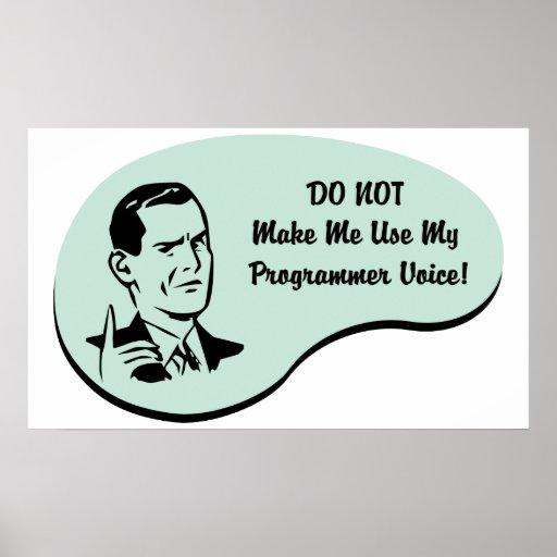 Programmer Voice Poster