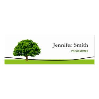 Programmer - Wise Oak Tree Symbol Business Card Templates