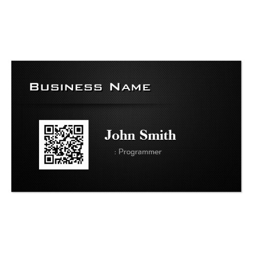 Programmer - with Business QR Code Business Card