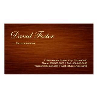 Programmer - Wood Grain Look Pack Of Standard Business Cards