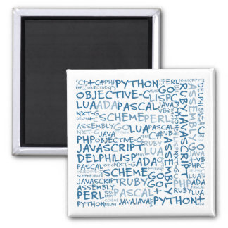 Programmers Have Multiple Programming Skills Square Magnet