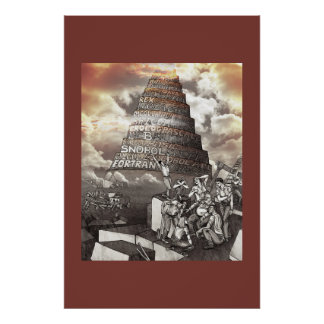 Programming Languages Tower of Babel Poster