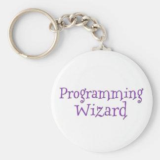 Programming Wizard Basic Round Button Key Ring