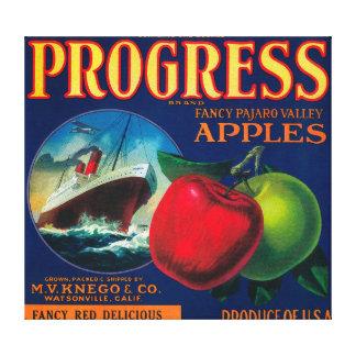 Progress Apple Crate LabelWatsonville, CA Canvas Print