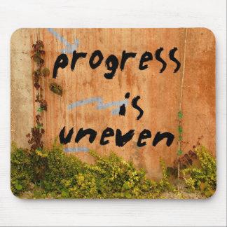 Progress Is Uneven, Graffiti Slogan on Wall Mouse Pad