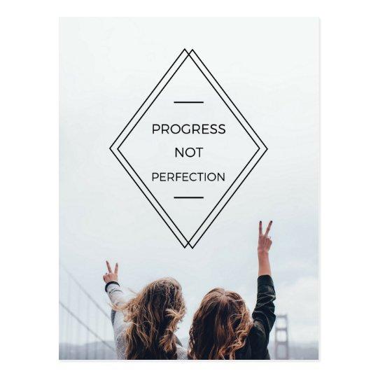 Progress Not Perfection Motto Postcard