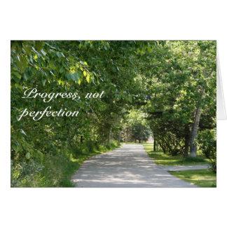 Progress, not perfection - slogan greeting card